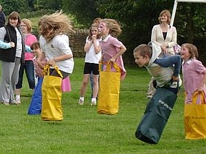 Sack racing