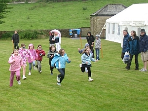 Enthusiastic youngsters compete in the field sports.
